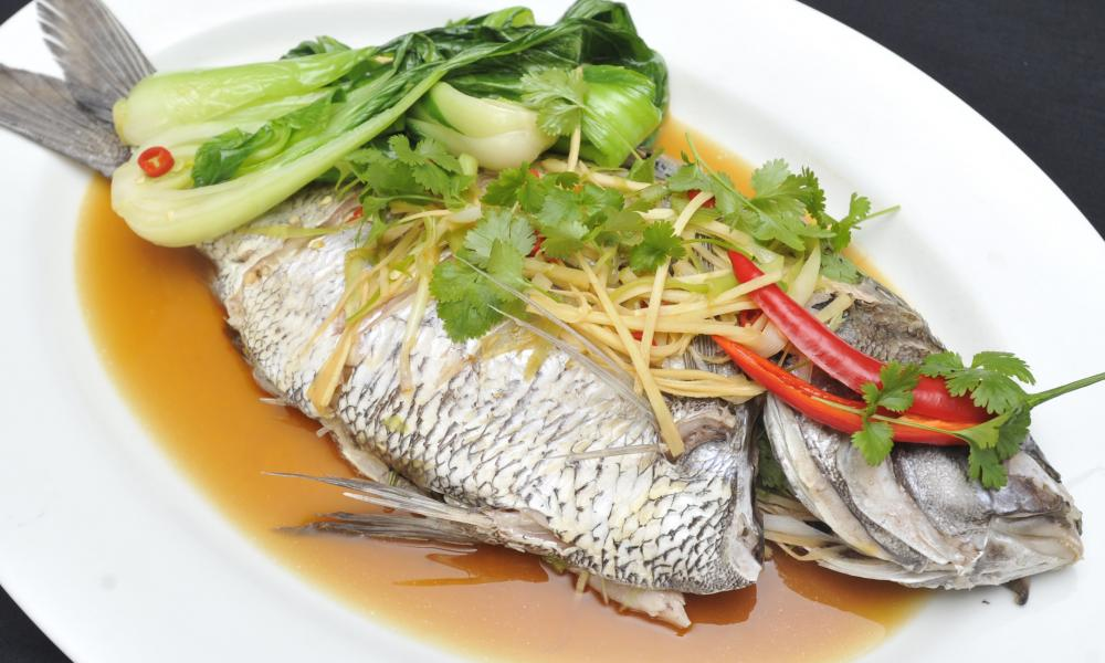 Steamed whole snapper asian style ngati porou for Steamed whole fish